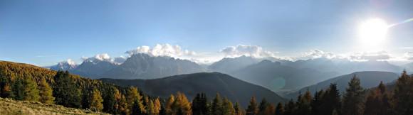 Panoramablick von den Hängen des Pfannhorn