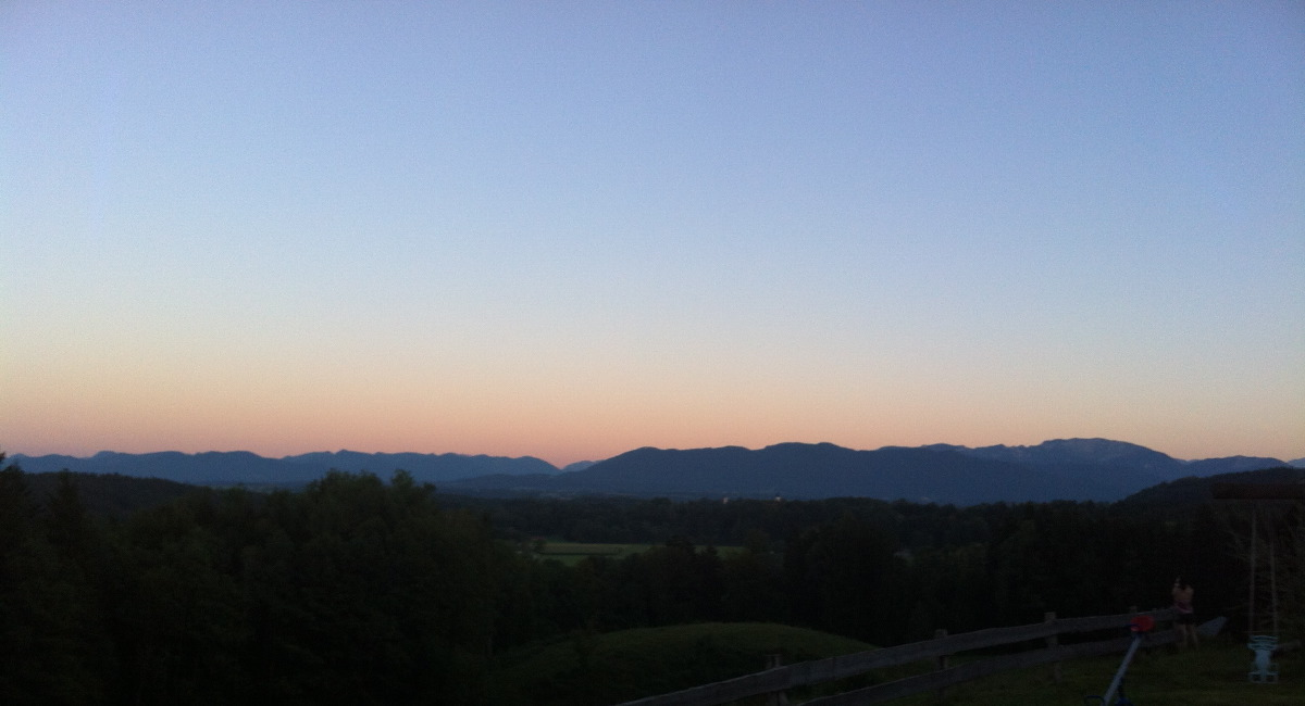 Ein Spätsommertag in den Bergen