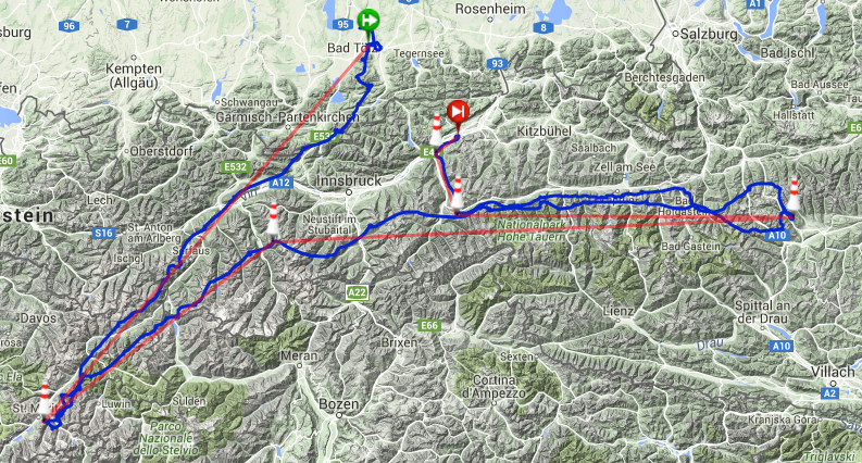 A flight with a culinary ending (flying low in Pinzgau valley)